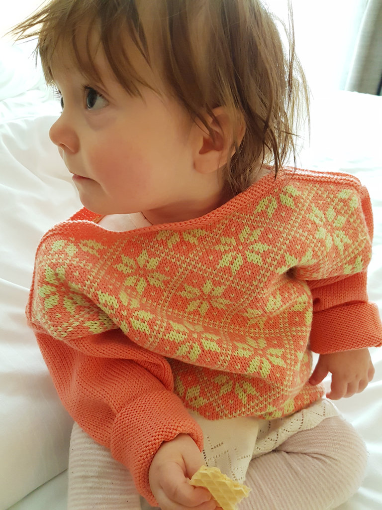Baby Florens in a wool sweater. Photo: Sanjin Đumišić.