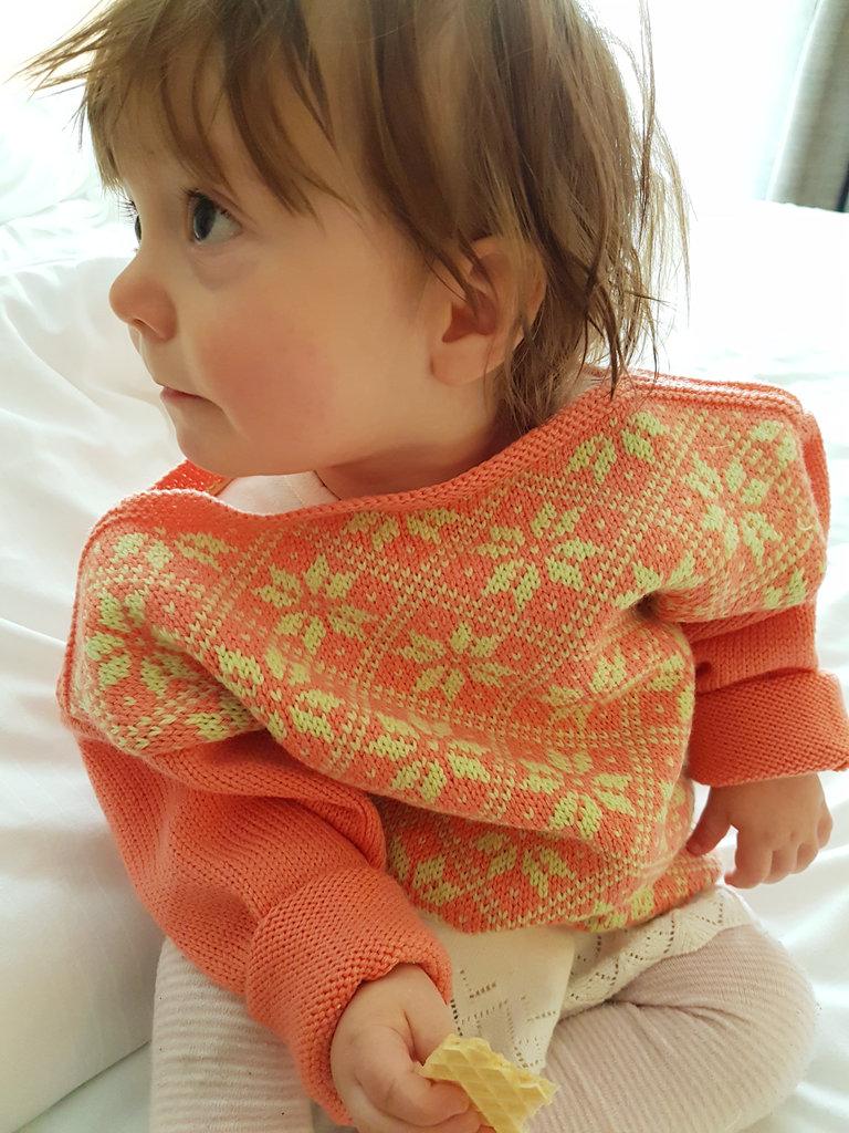 Baby Florens in a wool sweater. Photo: Sanjin Đumišić.