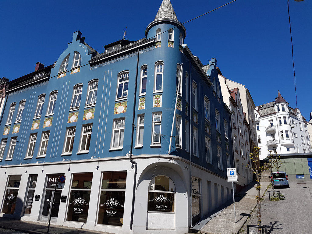 Jugend architecture in Ålesund, Norway. Photo: Sanjin Đumišić.