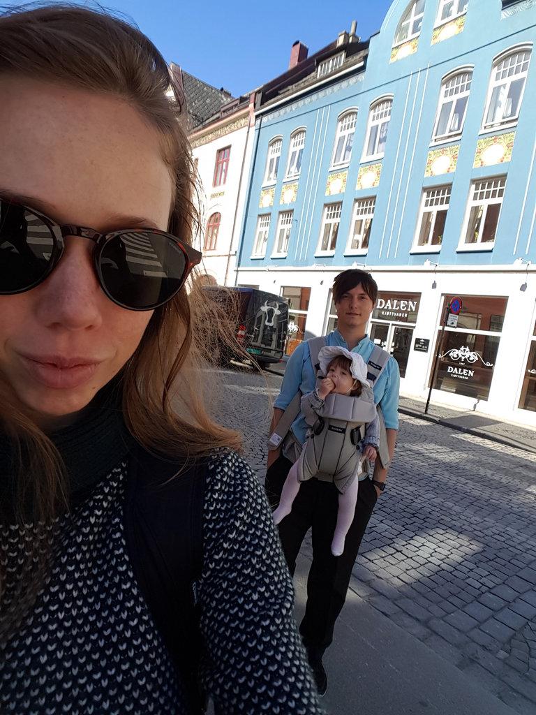 Lisa, baby Florens, Sanjin, Norway road trip. Photo: Sanjin Đumišić.