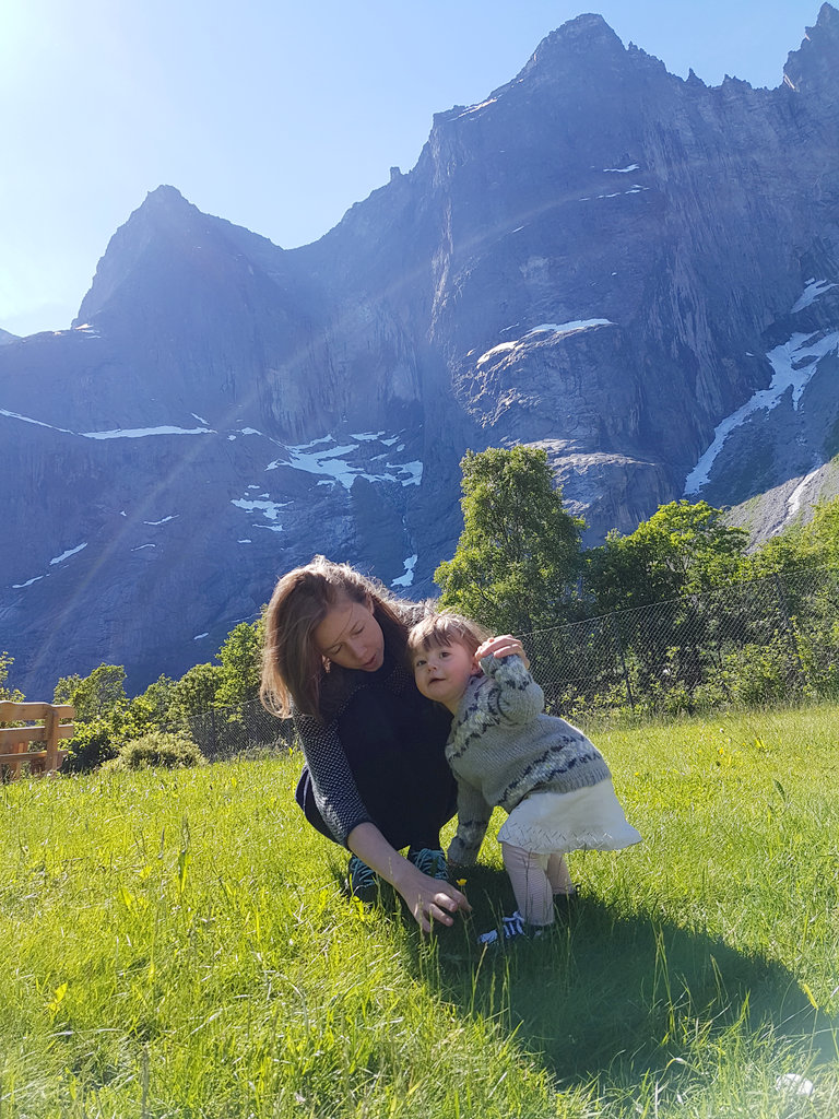 Mother Lisa, baby Florens. Norway road trip, Trollveggen. Photo: Sanjin Đumišić.