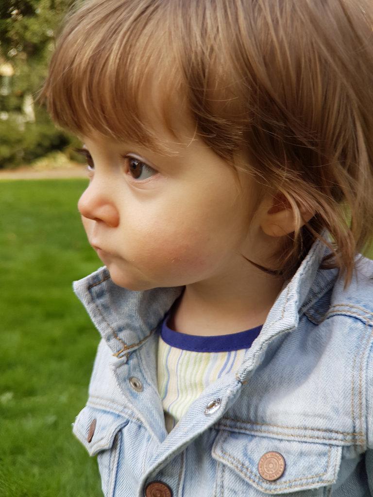 Baby Florens, jeans jacket. Photo: Sanjin Đumišić.