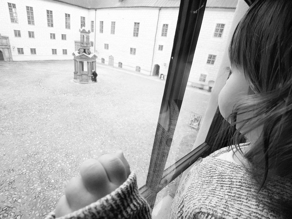 Baby Florens at Kalmar Castle. Photo: Sanjin Đumišić.