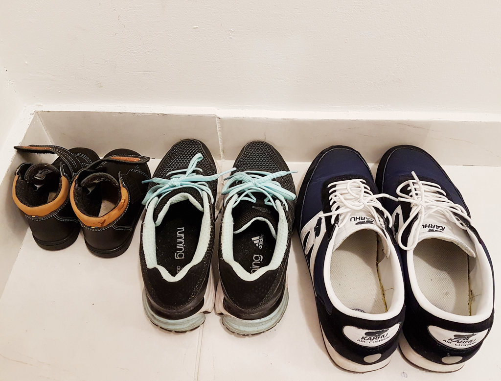 Family travel shoes. Photo: Sanjin Đumišić.