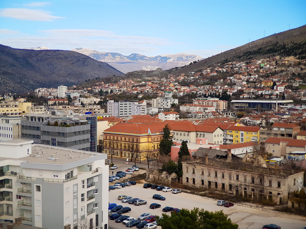 Mostar overview to the north. Photo: Sanjin Đumišić.