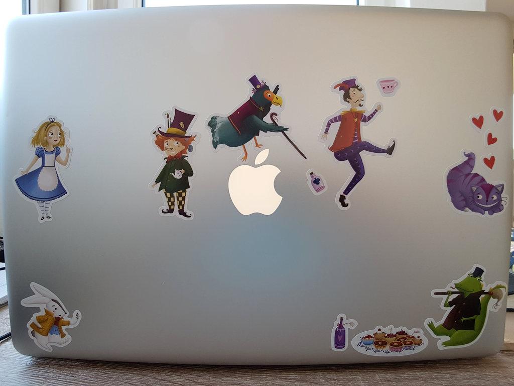 Alice in Woderland on MacBook Pro. Photo: Sanjin Đumišić.