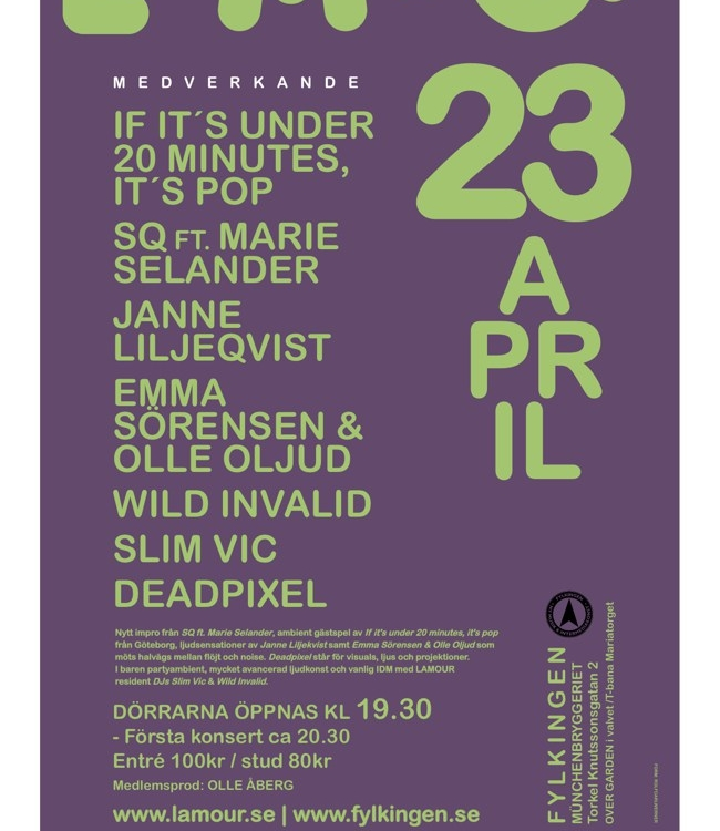 If it's under 20 Minutes, it's Pop! Live at Fylkingen