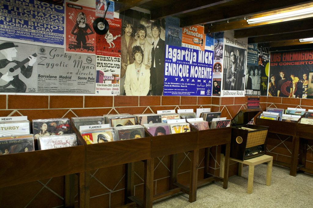 Record store Discos Bora-Bora in Granada. Photo: Lisa Sinclair.