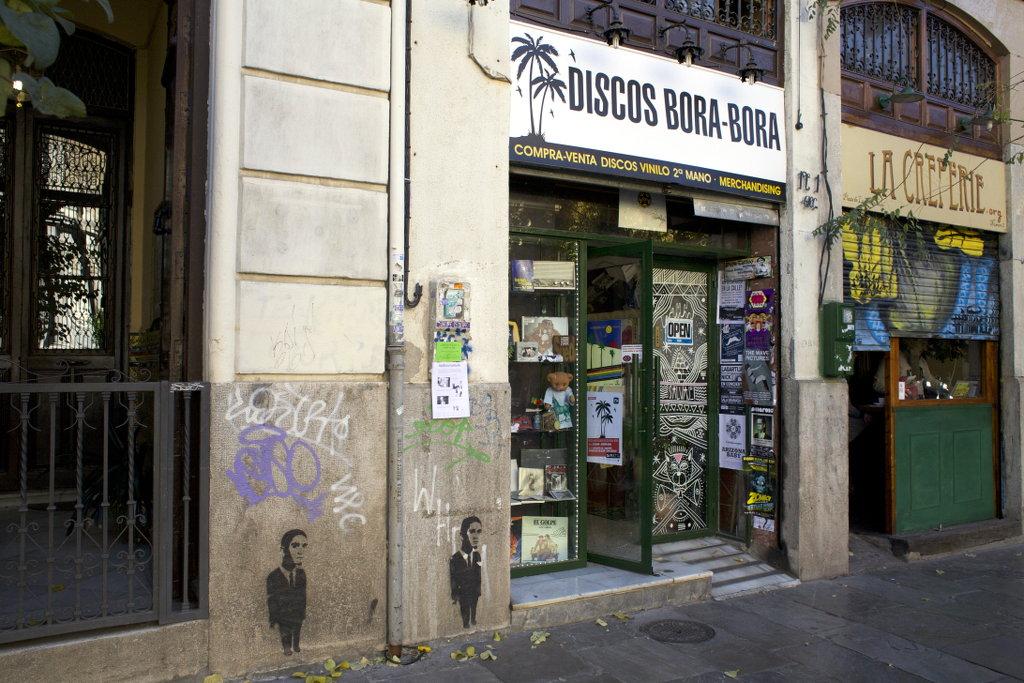 Record store Discos Bora-Bora in Granada. Photo: Lisa Sinclair.