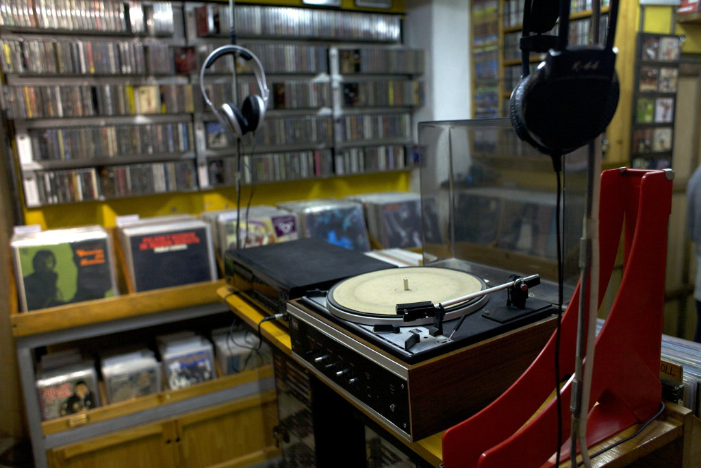 Record store Reciclaje in Granada. Photo: Lisa Sinclair.