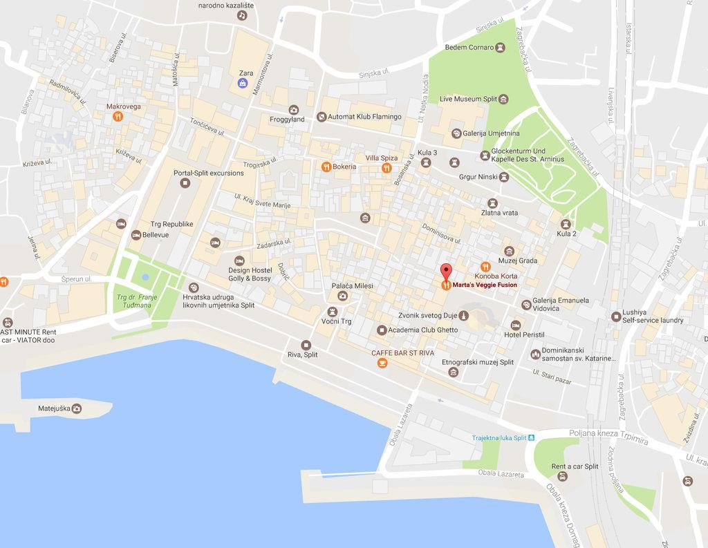 Marta's Veggie Fusion in Split.