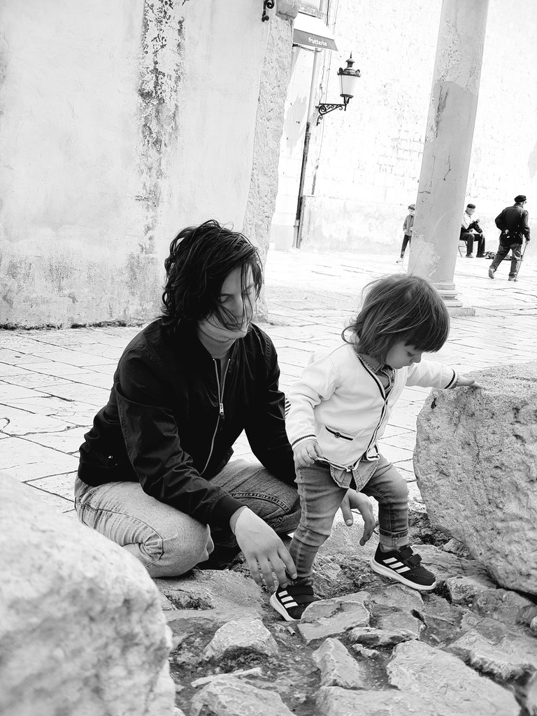 Sanjin and Florens in Old Town of Split. Photo: Lisa Sinclair.