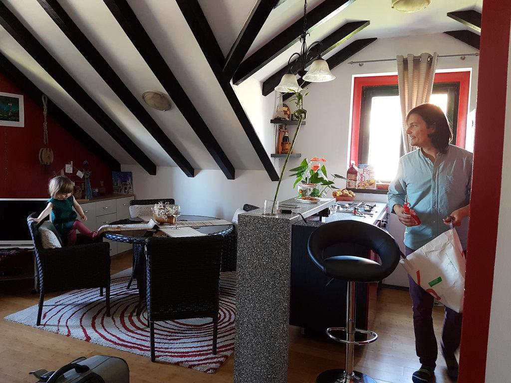 Florens and Sanjin, apartment in Split. Photo: Sanjin Đumišić.