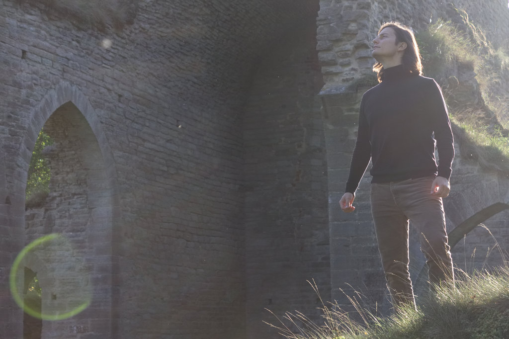 Sanjin Đumišić at Alvastra Abbey Ruins. Photo: Lisa Sinclair.