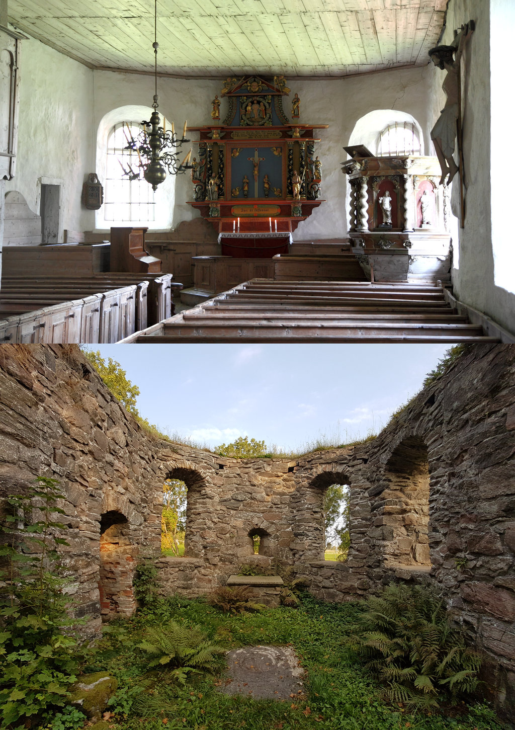 13th Century Church Ruins.