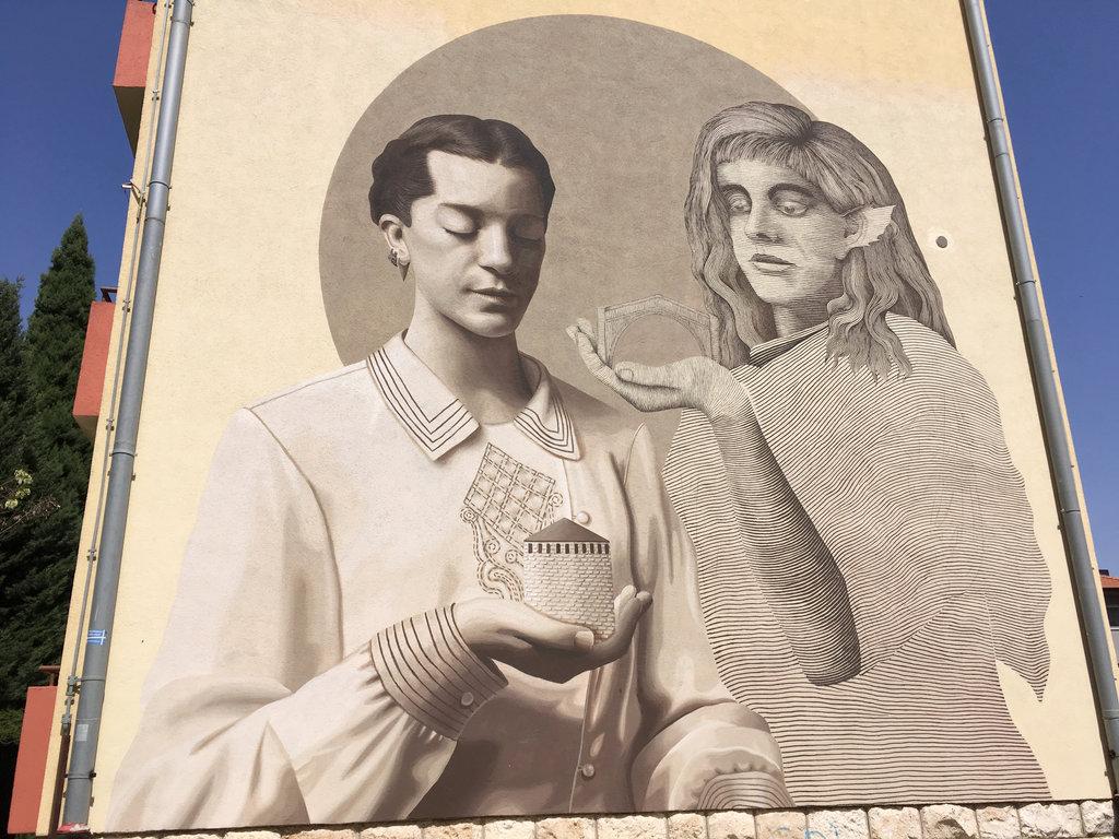 Street art in Mostar.