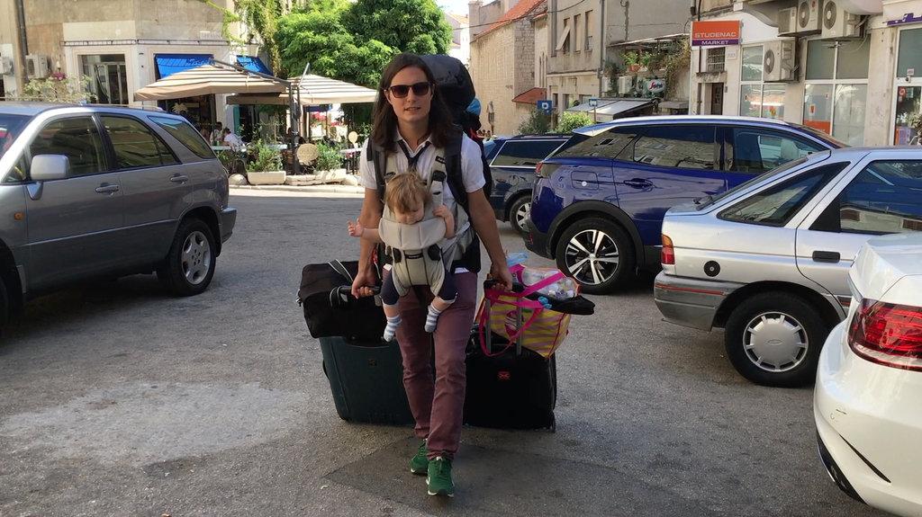 Aurelia, Sanjin. Arriving in Split. Photo: Lisa Sinclair.